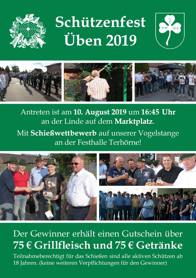 Schützenfest Üben 2019